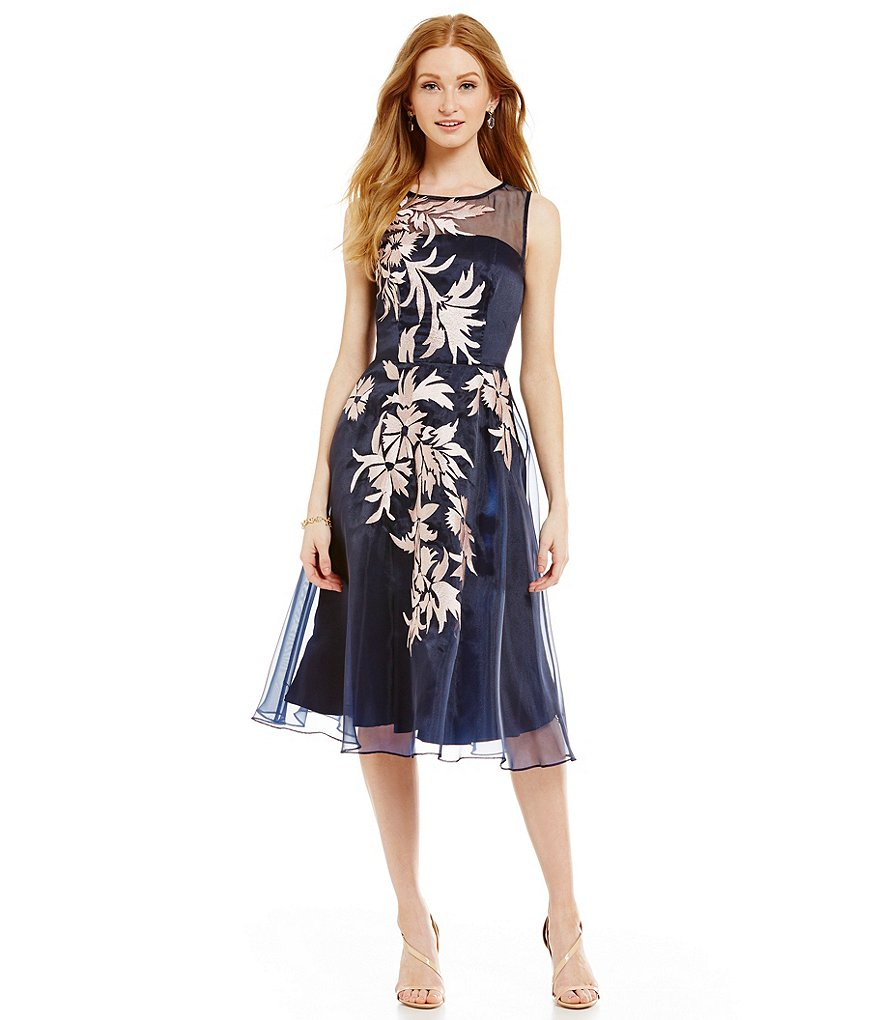 Katherine Kelly Suzy Floral Embroidered Organza Dress