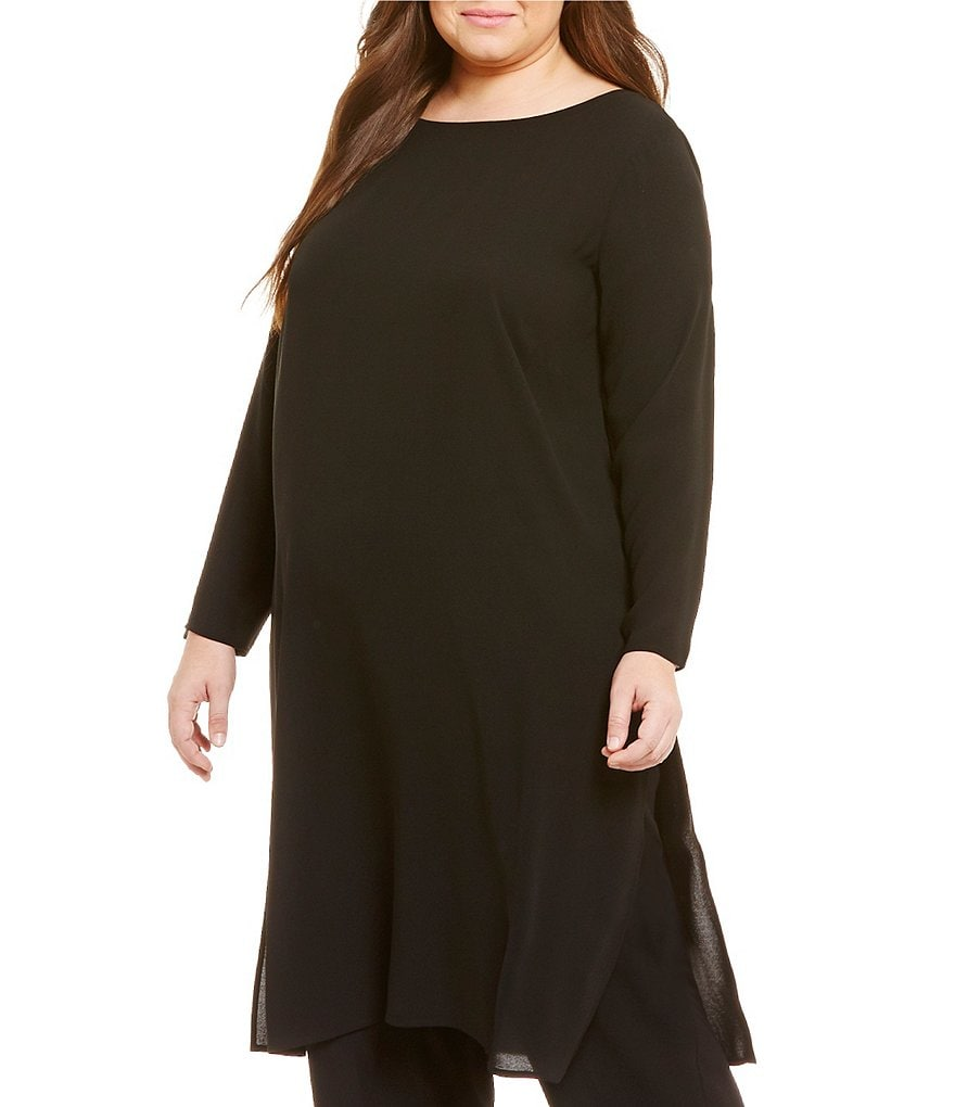 Eileen Fisher Plus Bateau Neck Tunic