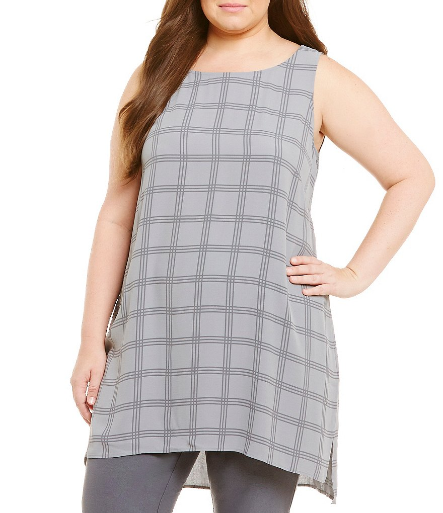 Eileen Fisher Plus Scoop Neck Tunic