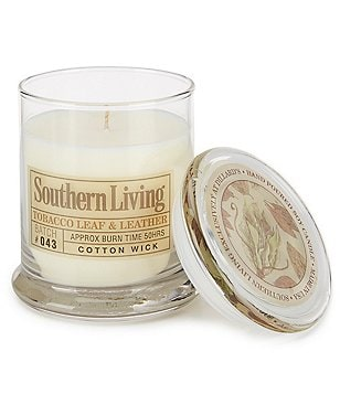 Southern Living Tobacco Leaf and Leather Soy Candle
