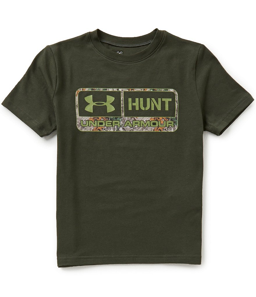 Under Armour Big Boys 8-20 Hunt Pill Short-Sleeve Graphic Tee