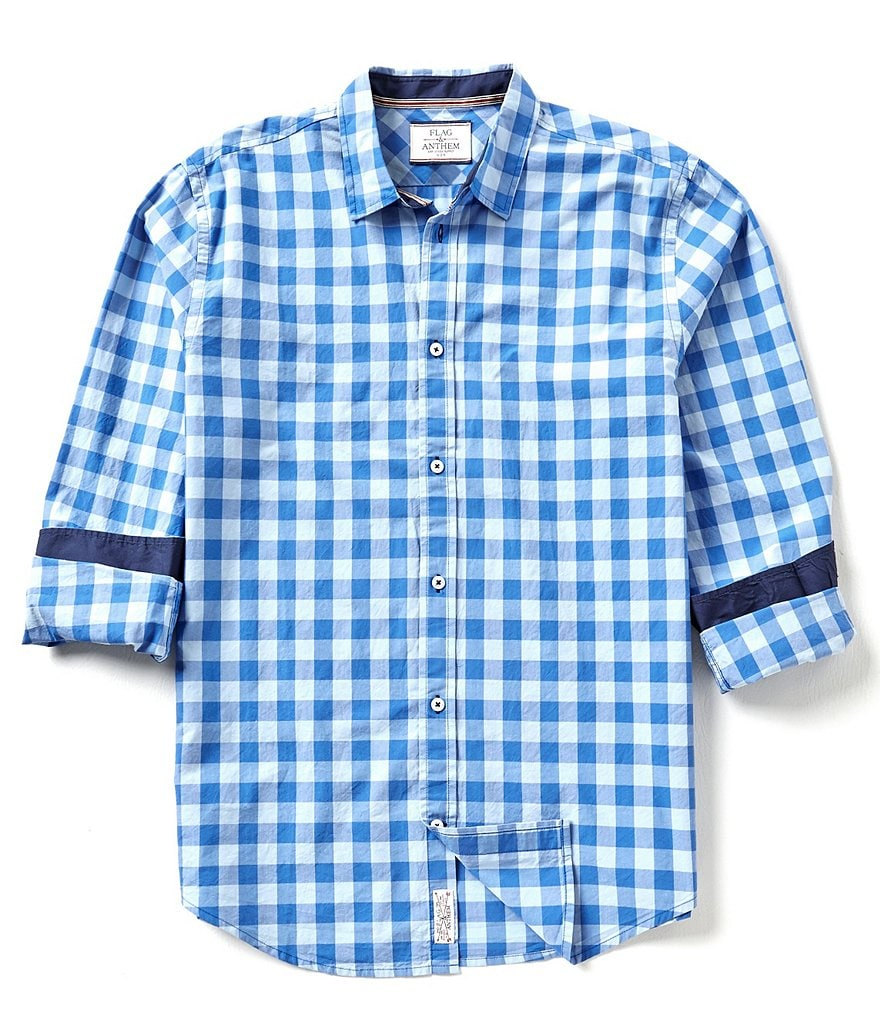 Flag & Anthem Dover Button-Front Gingham-Checked Shirt