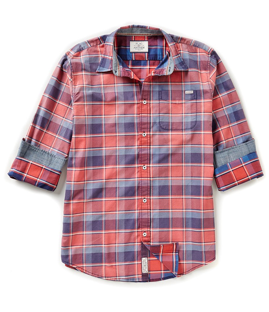 Flag & Anthem Salem Button-Front Plaid Shirt