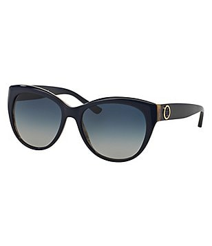 Tory Burch Ring Logo Oversized Cat-Eye Sunglasses
