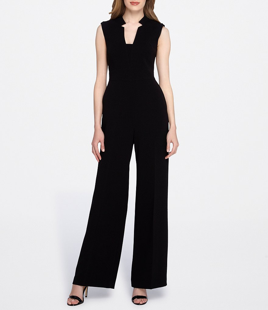 Tahari by ASL Square Neck Sleeveless Jumpsuit