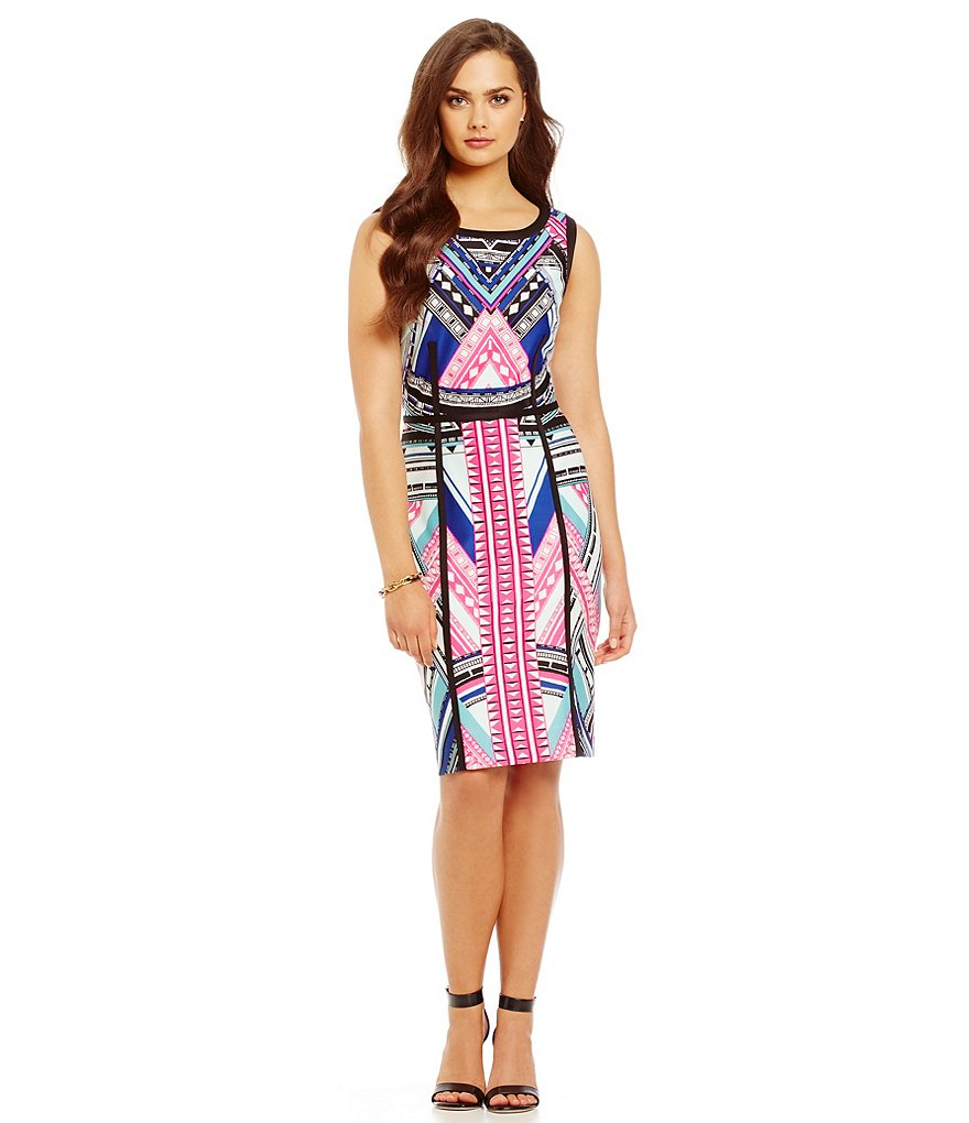 Antonio Melani Colbert Printed Scuba Sheath Dress