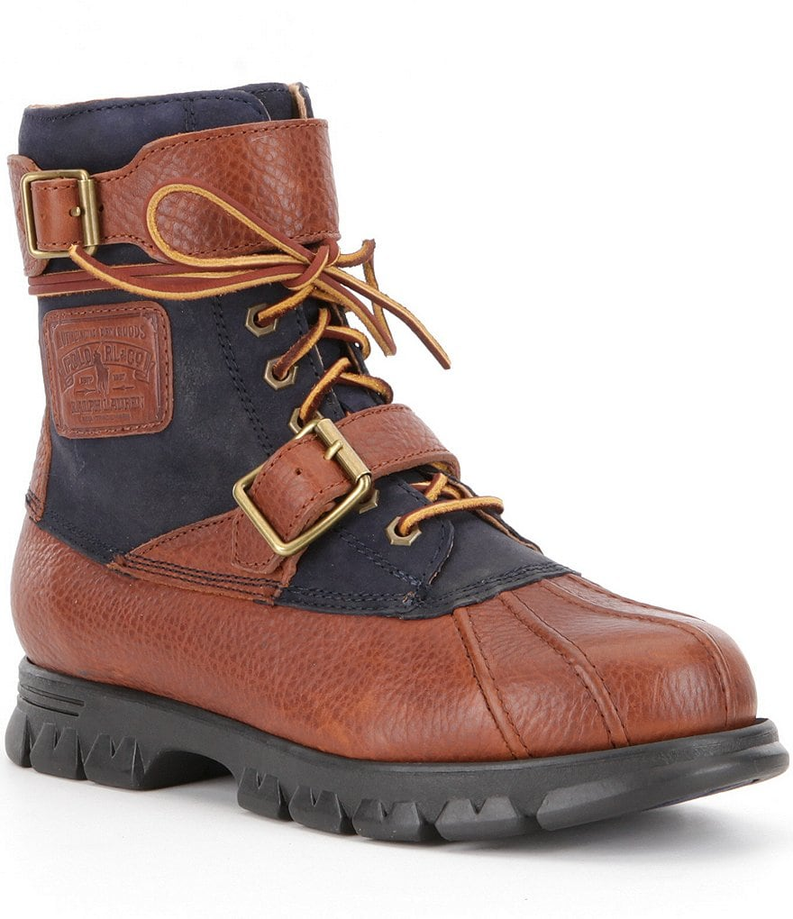Polo Ralph Lauren Men´s Drax Leather Buckle Lace-Up Boots