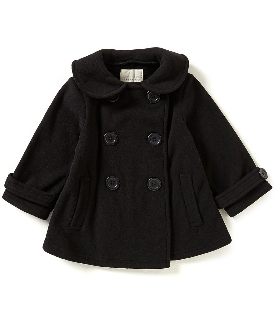 Copper Key Little Girls 2T-6X Double-Breasted Peacoat