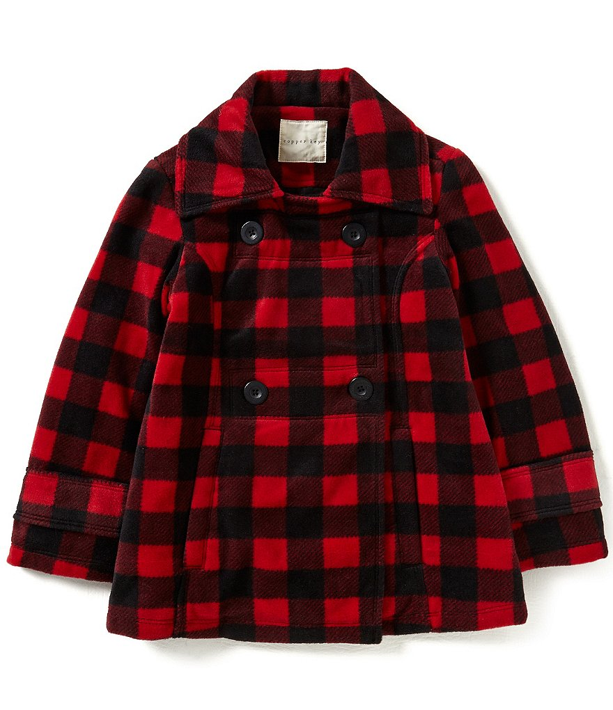 Copper Key Big Girls 7-16 Buffalo-Checked Jacket