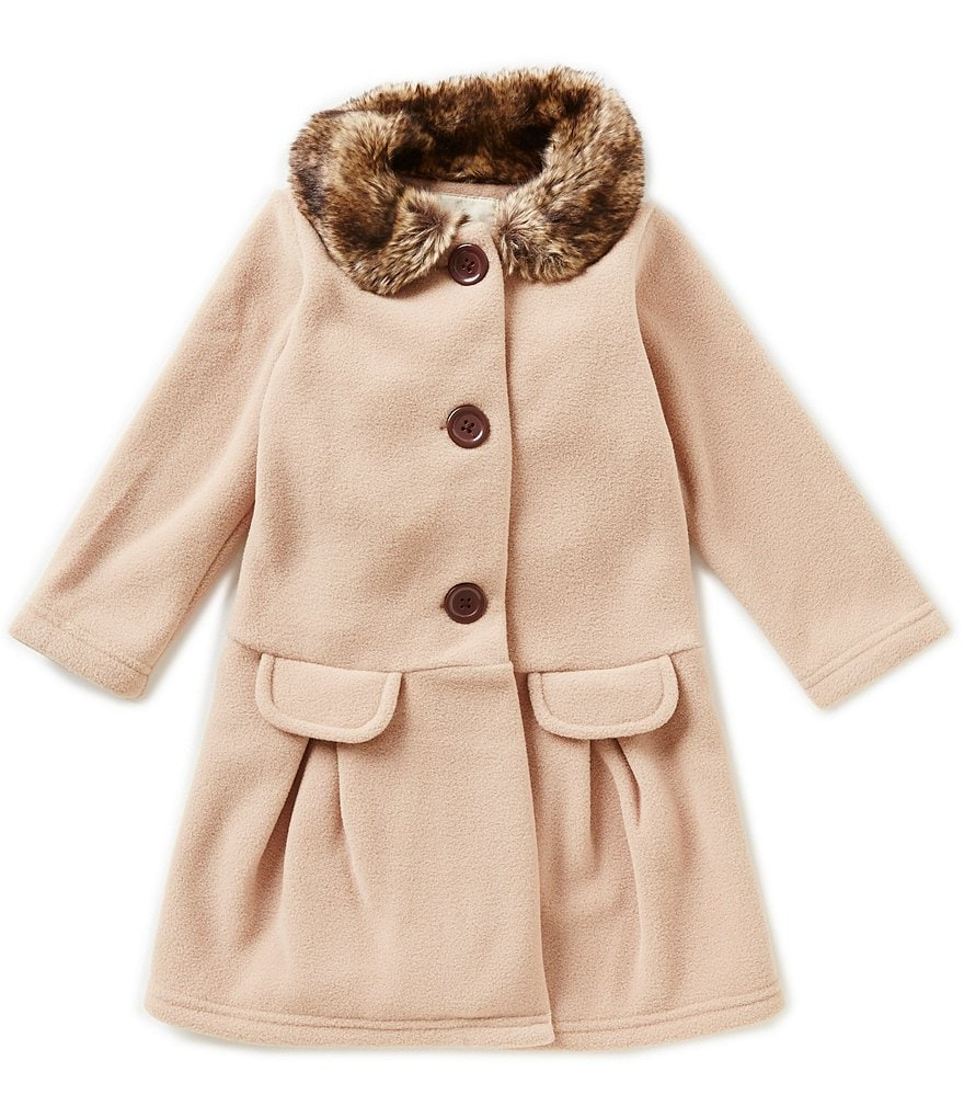 Copper Key Little Girls 2T-6X Faux-Fur Collar Jacket