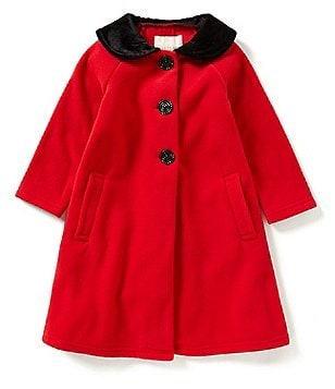 Copper Key Little Girls 2T-6X Peter-Pan Collar Bow Coat