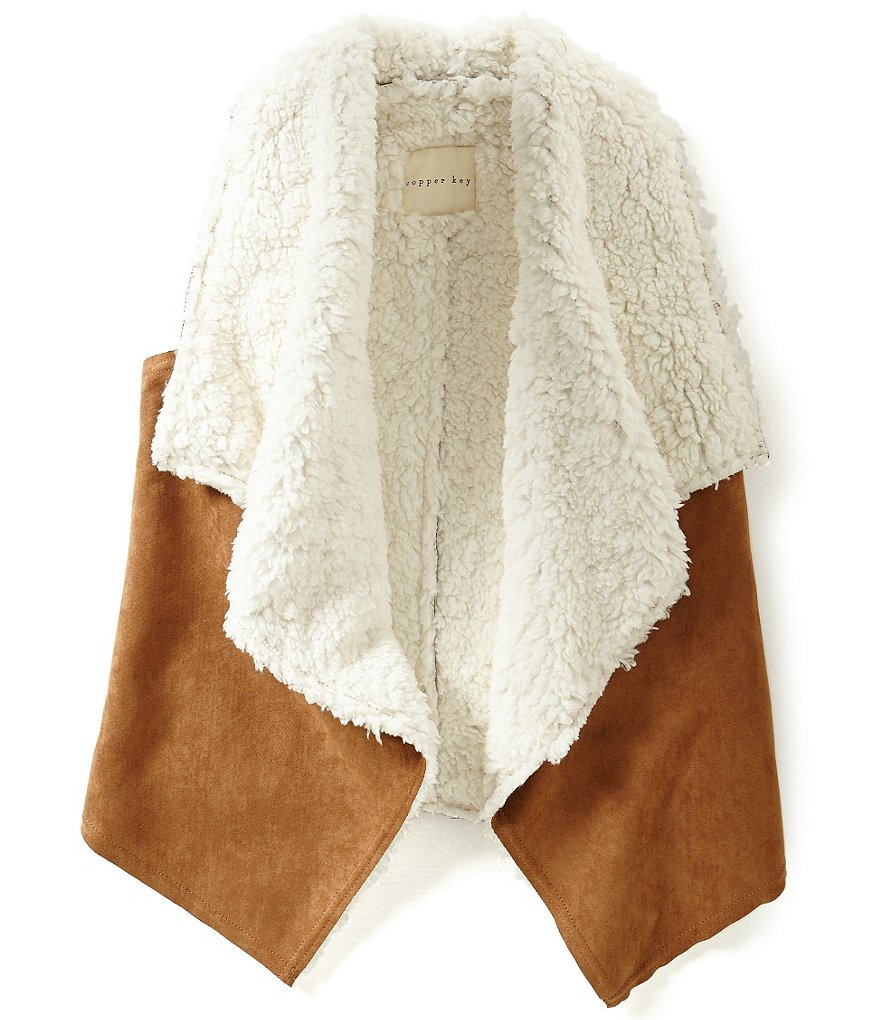 Copper Key Big Girls 7-16 Faux-Suede Vest