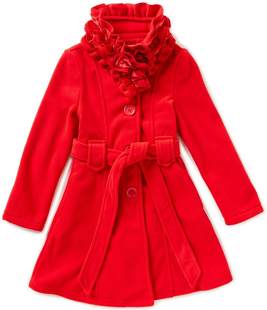 Copper Key Big Girls 7-16 Lion Ruffle-Collar Coat