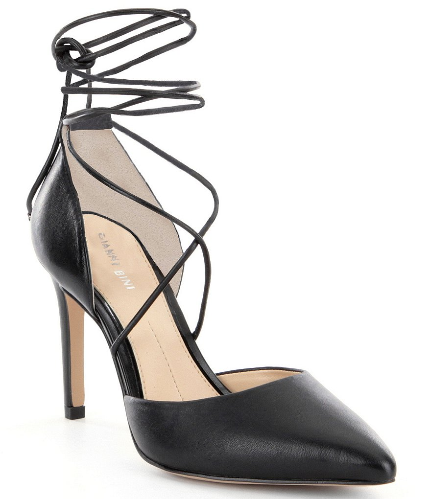 Gianni Bini Edda Lace-Up Pointed-Toe Pumps