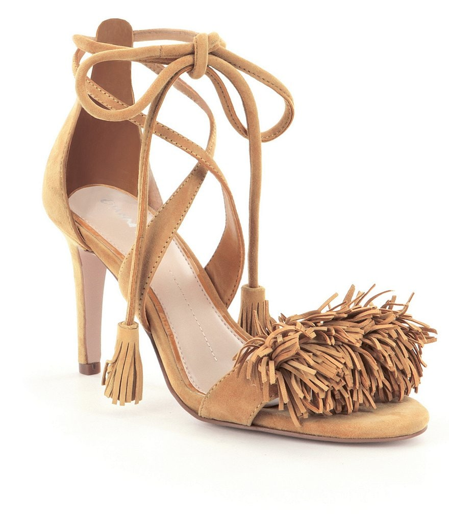 Gianni Bini Hadley Fringe Two Piece Dress Sandals