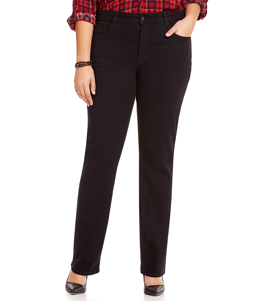 NYDJ Plus Hayley Straight-Leg Jeans