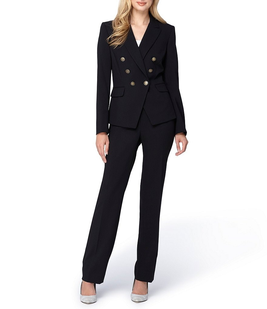 Tahari ASL Asymmetrical Double Breasted Pant Suit
