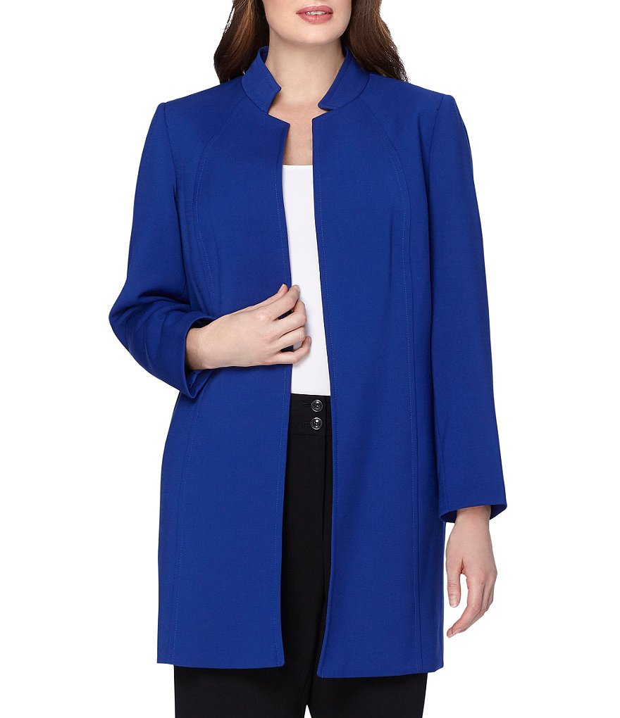 Tahari ASL Plus Stand Collar Topper Jacket