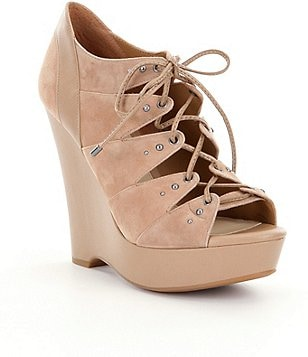 Gianni Bini Presli Lace-Up Wedges