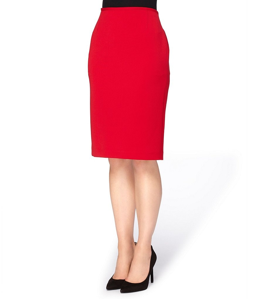 Tahari ASL Petite Ponte Pencil Skirt