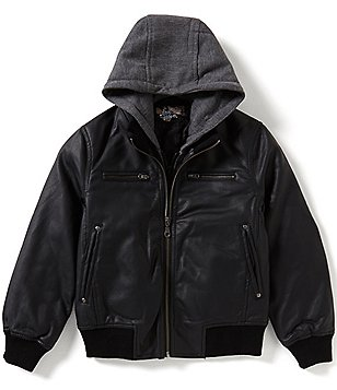 First Wave Big Boys 8-20 Hooded Bomber Jacket
