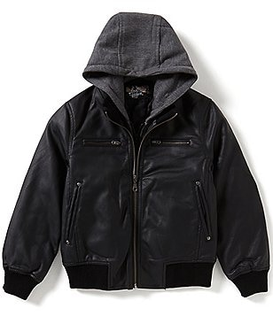 First Wave Little Boys 2T-7 Hooded Bomber Jacket