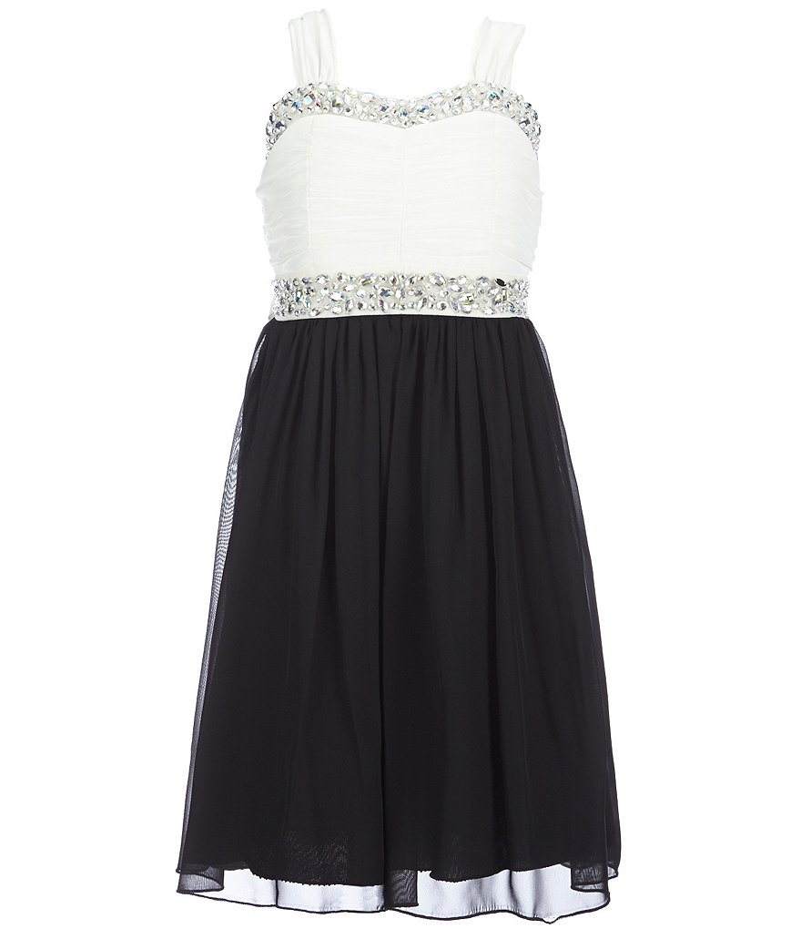 Xtraordinary Big Girls Plus 12X-20X Sequin Trim Dress