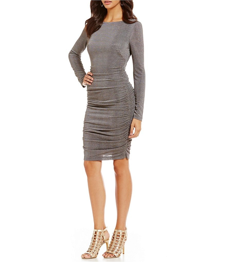 Vince Camuto Lurex Ruched Dress