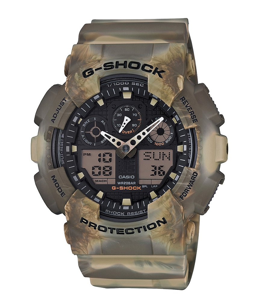 G-Shock Marbled Camouflage Series Resin Ana-Digi Watch