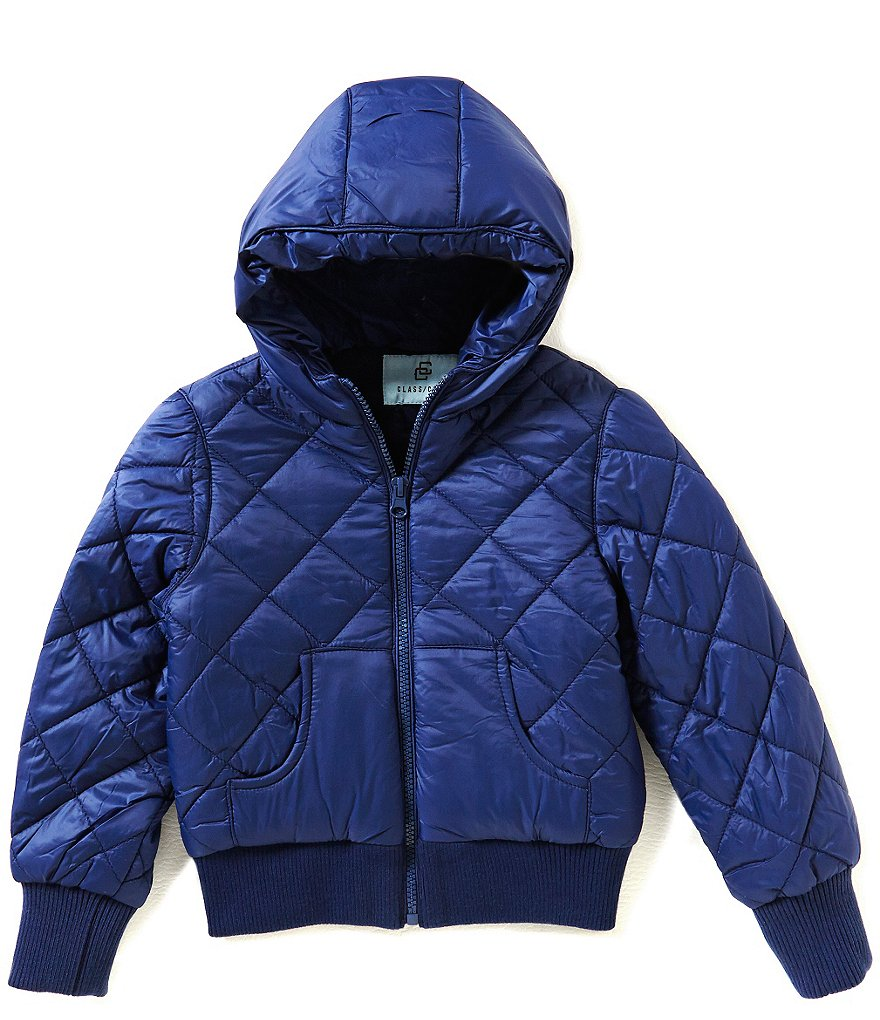 Class Club Big Boys 8-20 Quilted Bomber Fleece jacket