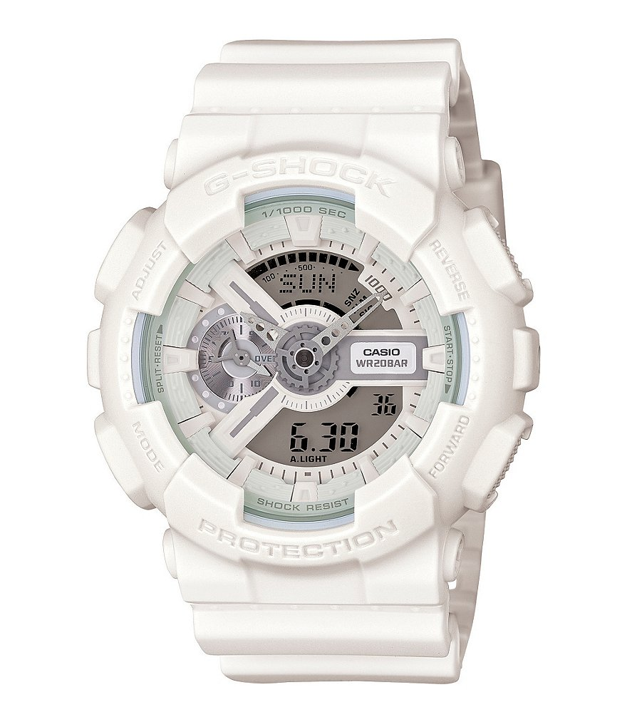 G-Shock XL White Out Ana-Digi Polyurethane and Resin World Time Watch