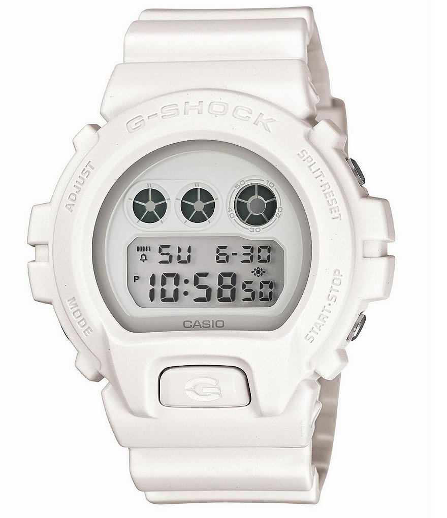 G-Shock All White Digital Resin Strap Watch