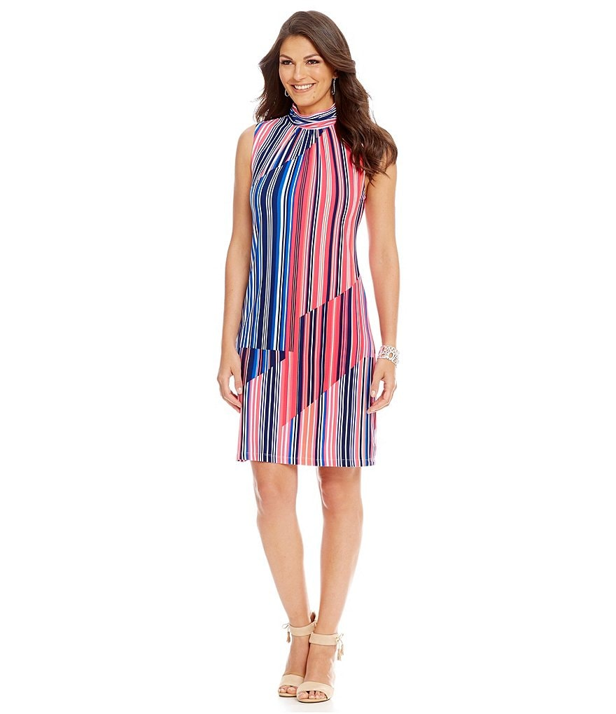 Alex Marie Poetic Presence Sina Vertical Stripe Dress