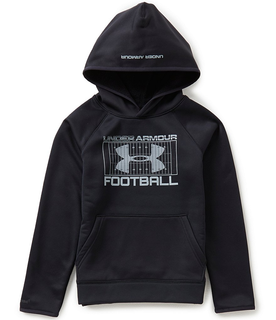 Under Armour Big Boys 8-20 Fleece Storm Football Hoodie