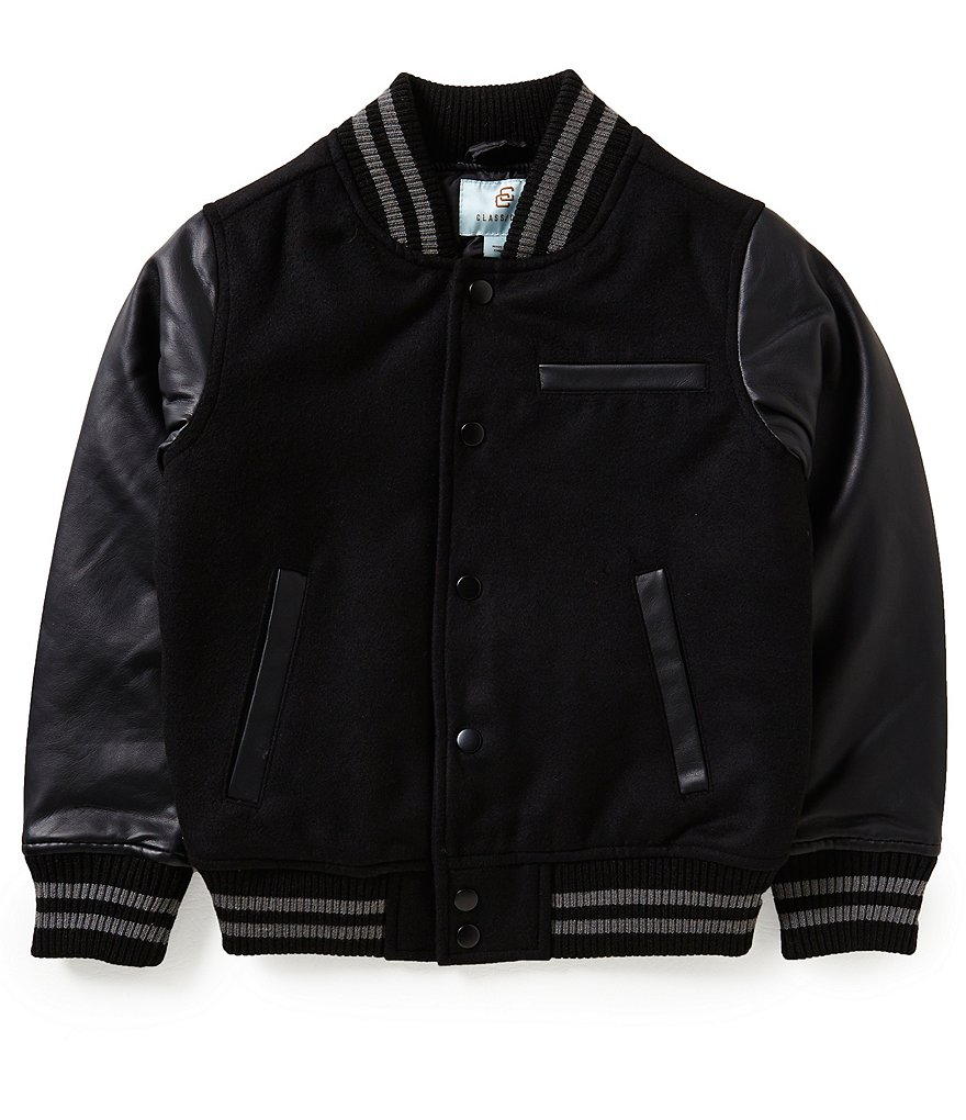Class Club Big Boys 8-20 Flannel Varsity Jacket