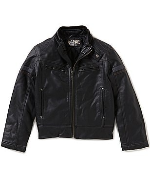 First Wave Big Boys 8-20 Moto Striped Jacket