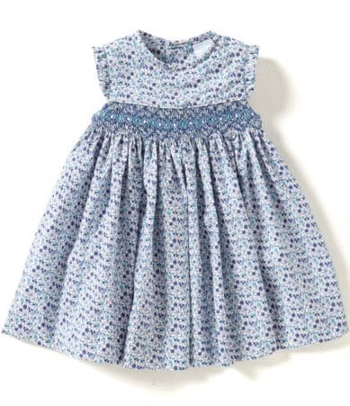 Edgehill Collection Baby Girls 3 24 Months Smocked Print