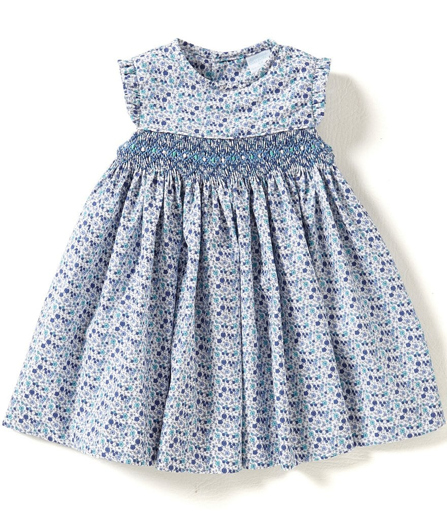 Edgehill Collection Baby Girls 3-24 Months Smocked Print Dress