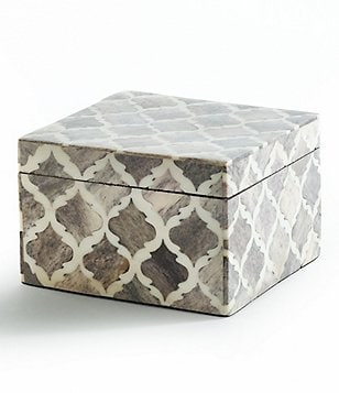 Kassatex Marrakesh Trellis Bone Box Cotton Jar