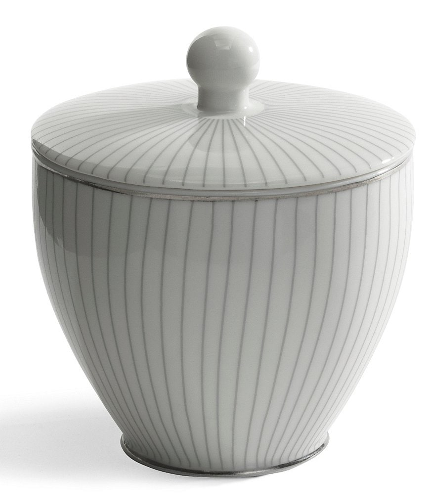 Kassatex Odeon Striped Porcelain Cotton Jar
