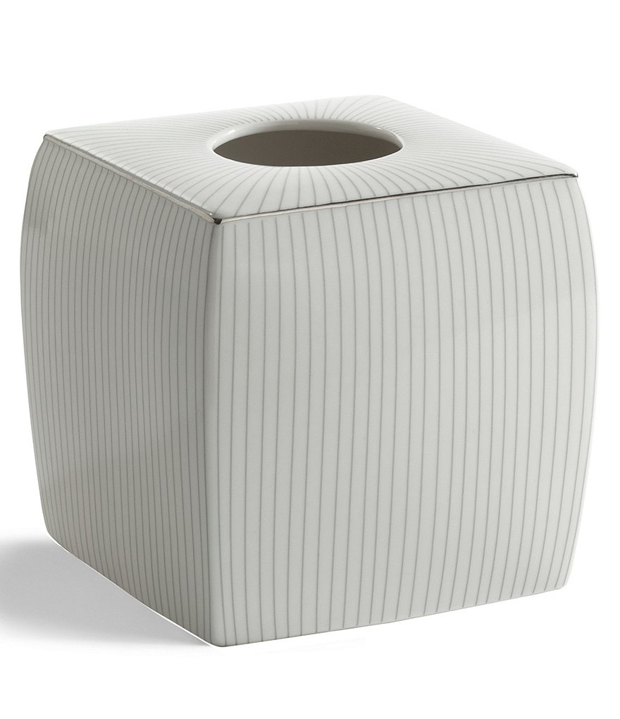Kassatex Odeon Striped Porcelain Tissue Cover