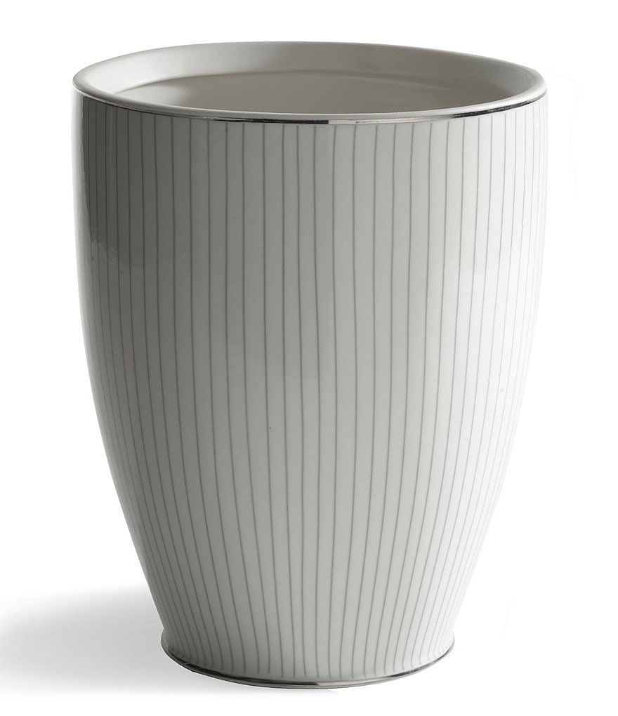 Kassatex Odeon Striped Porcelain Wastebasket