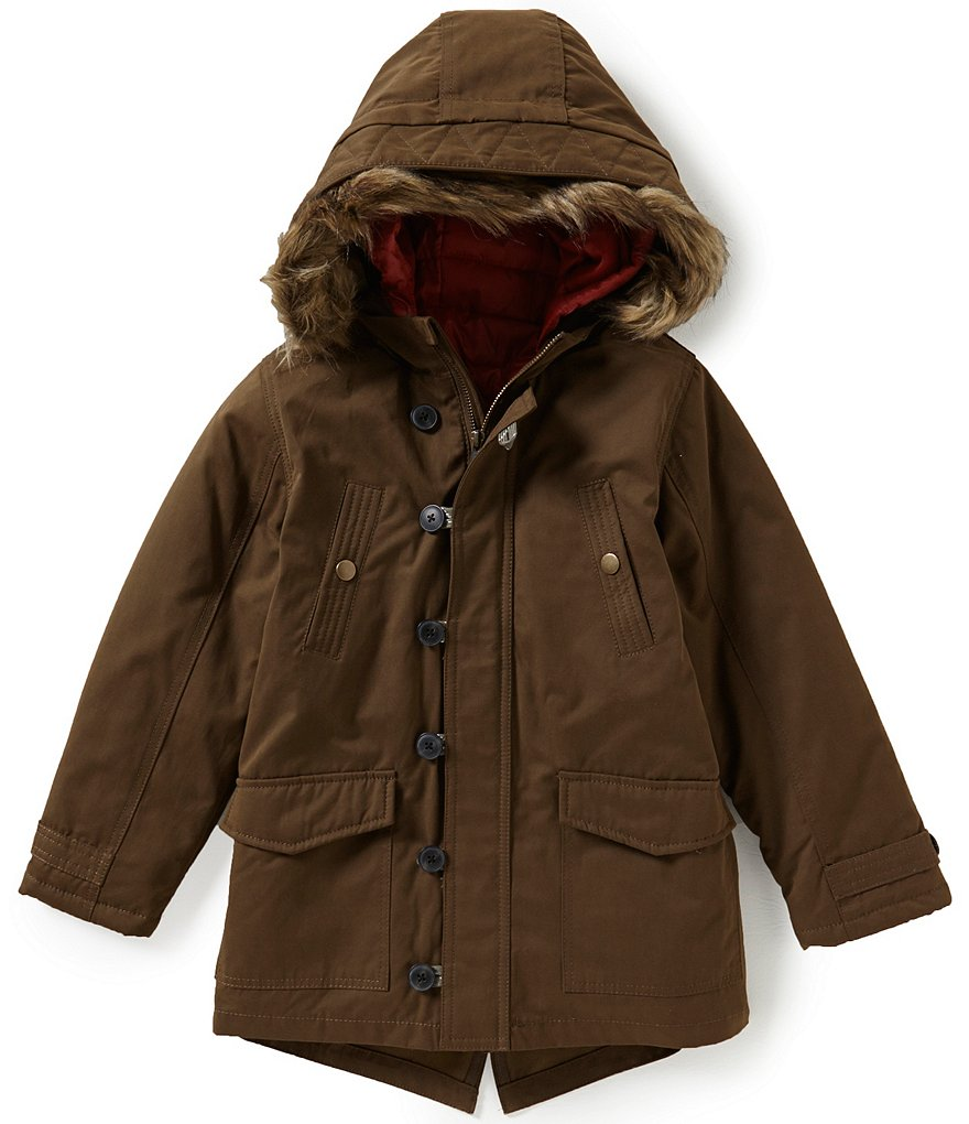 Class Club Big Boys 8-20 Zip-Out Vest Parka Coat