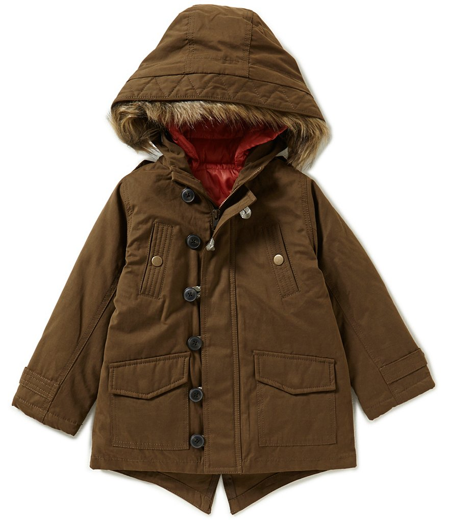Class Club Little Boys 2T-7 Zip-Out Vest Parka Coat