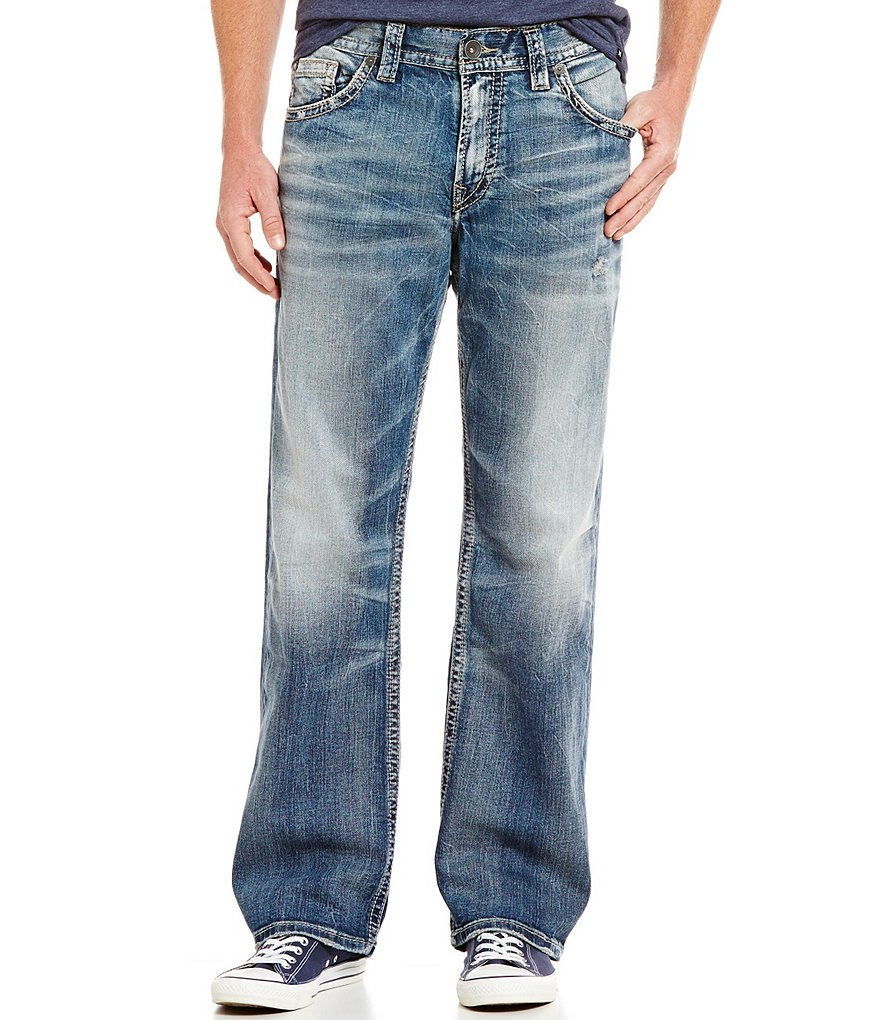 Silver Jeans Co. Gordie Loose-Fit Faded Jeans