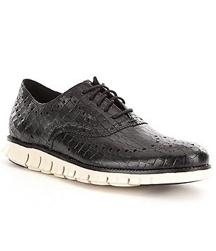 Cole Haan Men´s Zerogrand Wing Croco-Print Oxfords