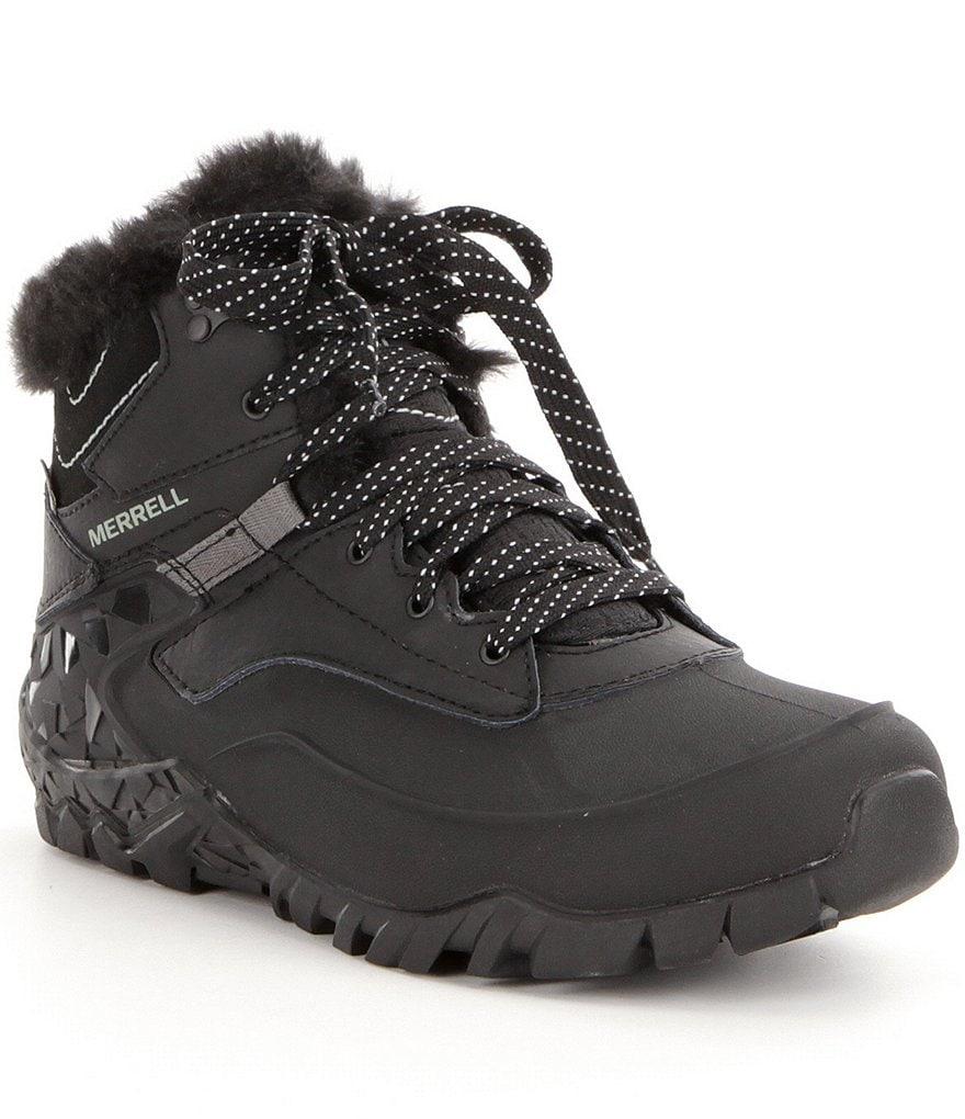 Merrell Aurora 6 Ice+ Waterproof with Faux Fur Collar Hiking Booties