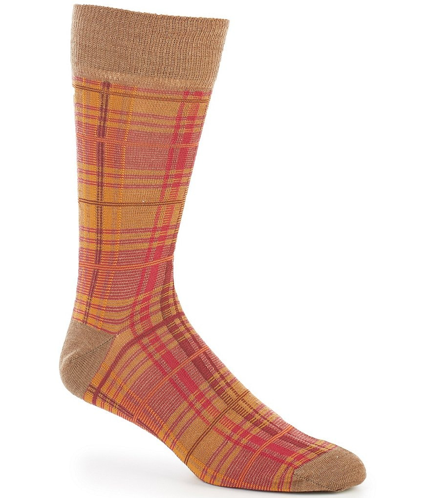 Cremieux Plaid Crew Dress Socks