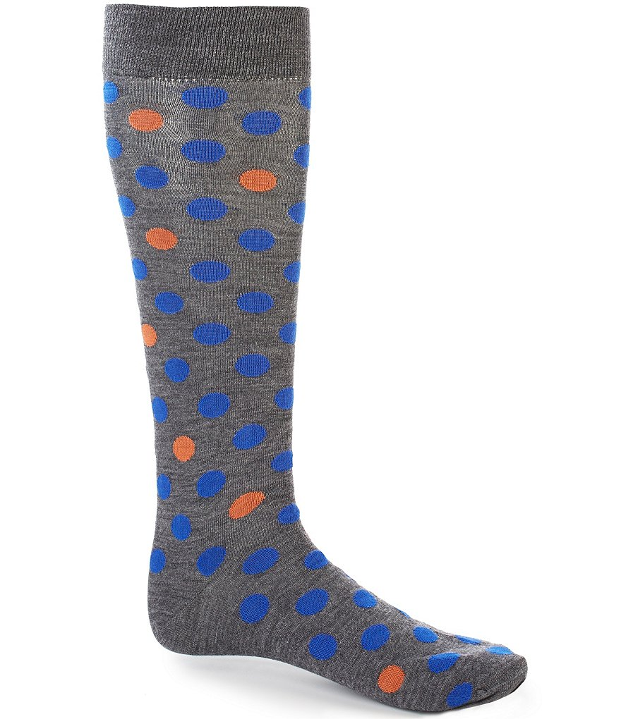 Cremieux Fashion Dots Over-the-Calf Dress Socks