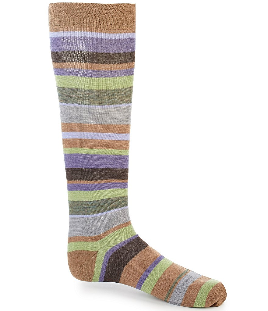 Cremieux Multi Stripe Over-the-Calf Dress Socks